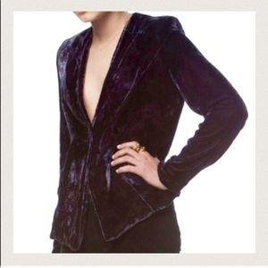 GYPSY velvet panel blazer (100% silk velvet)